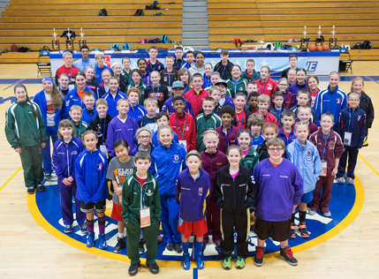 Group of Hoop Shoot Contestants