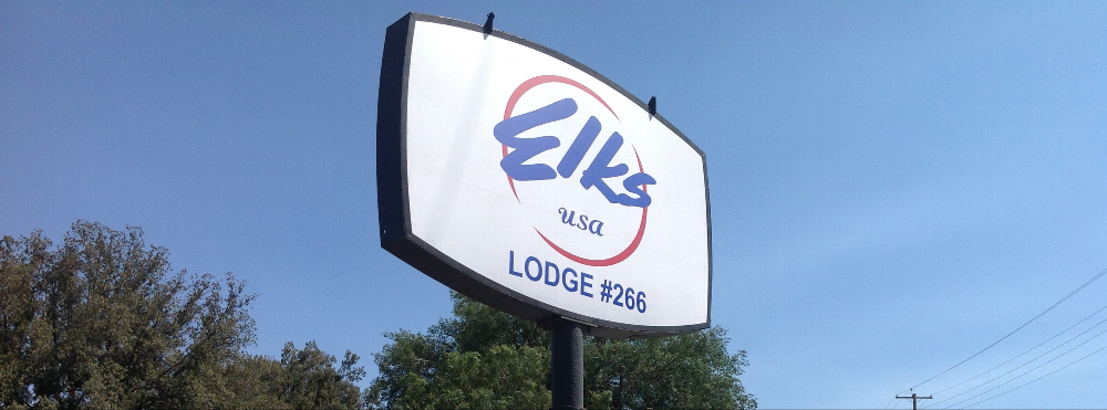 Our New Lodge Sign