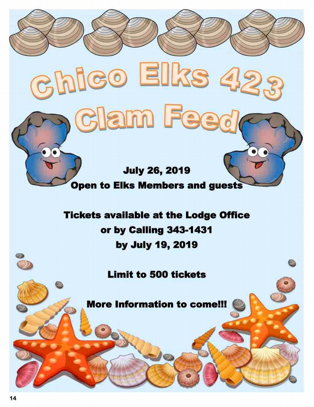 Chico Elks #423 Clam Feed