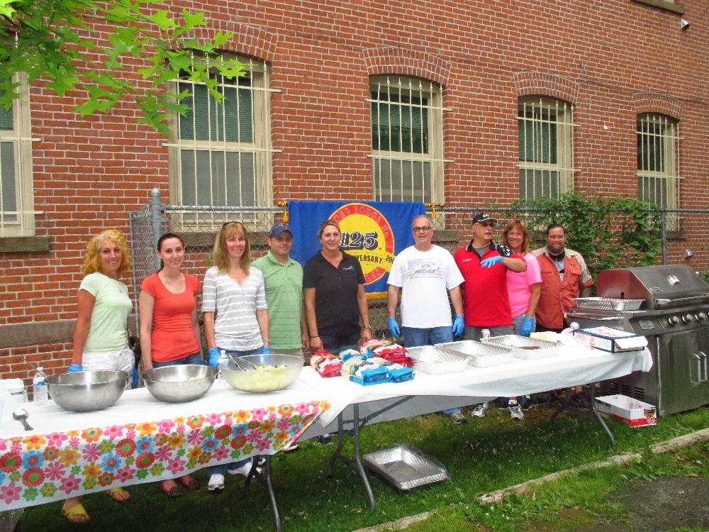 Hartford CT Elks used their Elks National Foundation Beacon Grant to host a cookout for the Mercy Housing and Shelter residents and workers.  June 2014