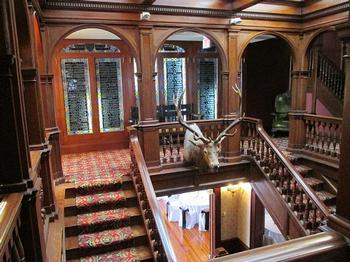 Stairwell overlooking Chamberlin Room