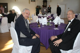 Jim Gallas and Jack Almy having a great time at the Installation.
