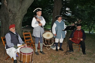 """""""Rural Felicity"""" performs on the Lodge lawn."""