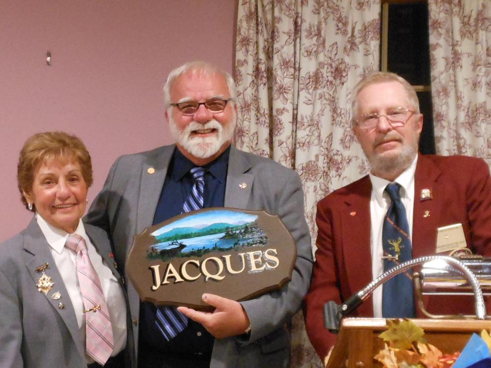 State President Jacques with gift from Lodge #81