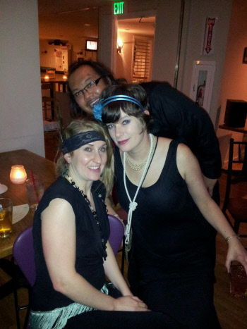 Stephanie, Vincet & Celeste at Celeste's Roaring 20's Birthday Party and Benefit Night for Youth Care of King County WA
