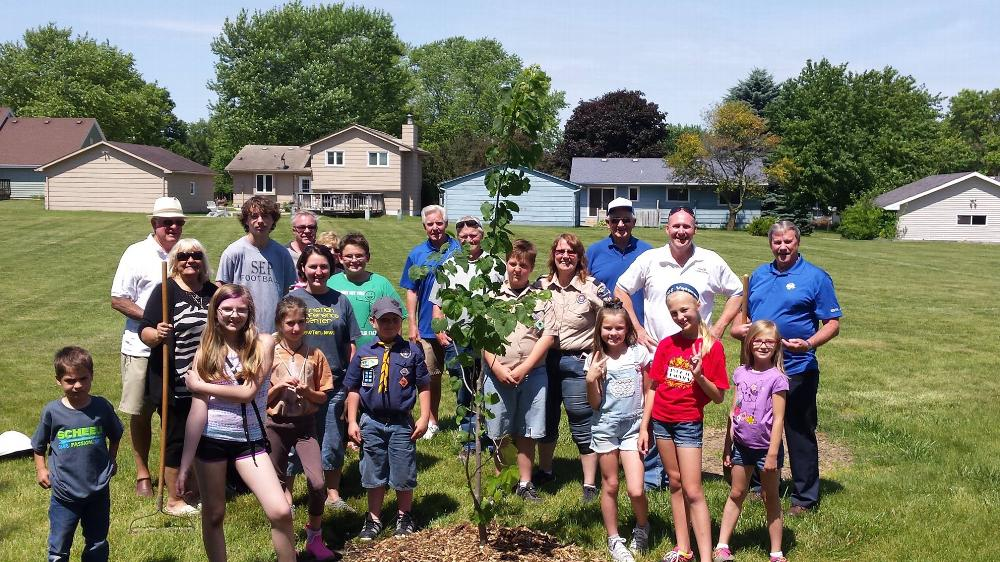 Members of Elks 98 spearheaded a tree planting project using the ENF Beacon Grant at a Pleasant Hill park.