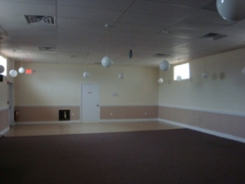 Function hall without lighting