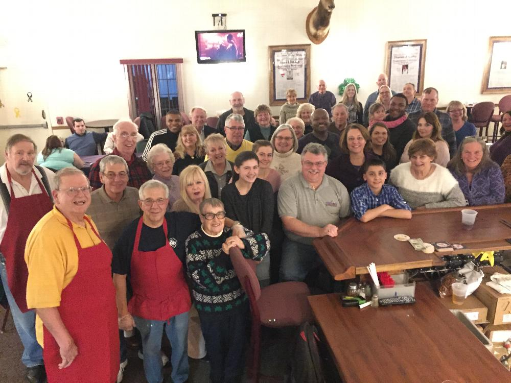 Group photo of our Italian Night Fundraiser!