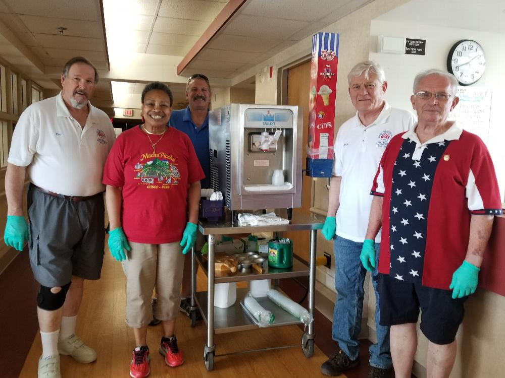 Members of the Lodge visited the VA Medical Center on May 26, 2019 to distribute ice cream to the patients!