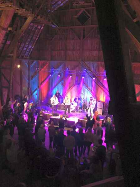 Bands and Dancing the night away at the 2015 Barn Party Event.