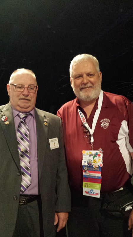 Minnesota Elks State President with ER Patrick Cleary at the National Elks Convention in Houston Texas.