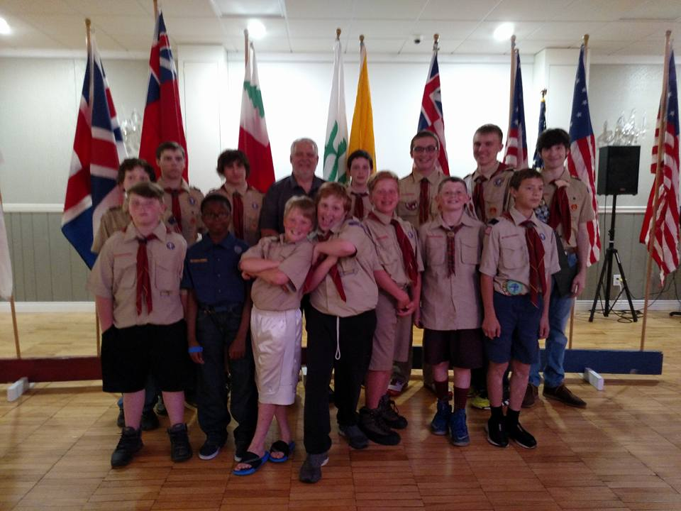 2016 Flag Day Celebration at the Stillwater Elk lodge with presentation of the history of our Flag, by Scout Troop 114.