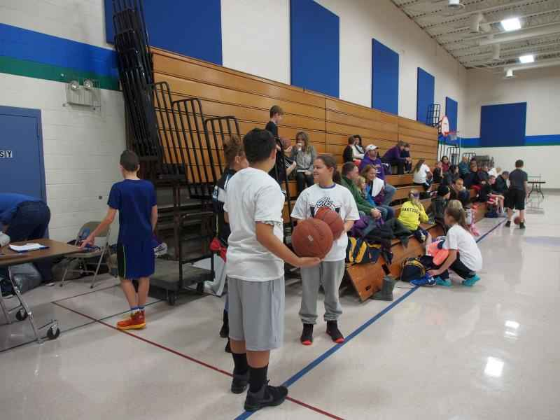 Boys and Girls getting ready to compete at our Annual Stillwater Elks Youth Hoop Shoot Event.