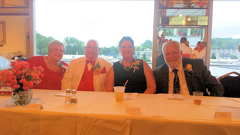 Butch and Diane Blight ELKS State President with Jill Kowitz and ER Patrick Cleary Stillwater #179 at the Banquet and River Boat Ride on the Saint Croix.
