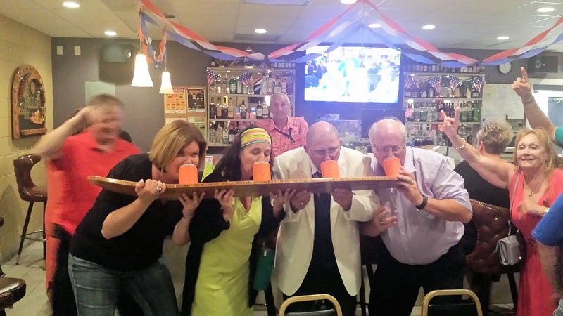Stillwater Lodge Shotski in action by MN State Elk Delegates attending the 2016 convention.