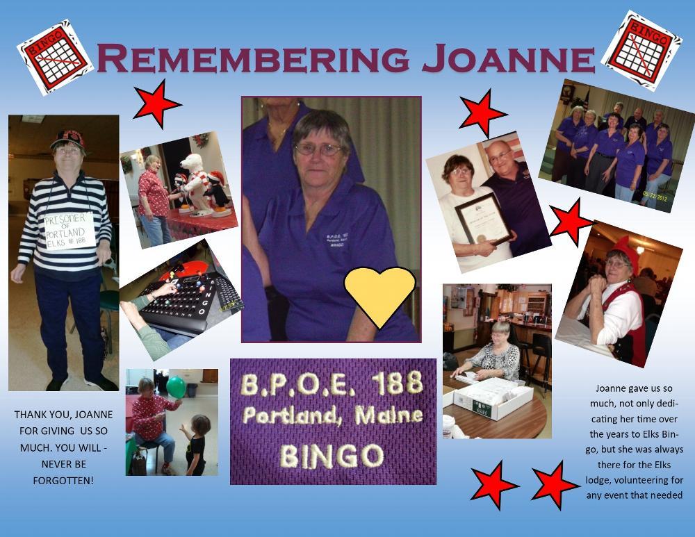 Plaque Presentation - November 5, 2019 In Memory of Joanne Gagnon