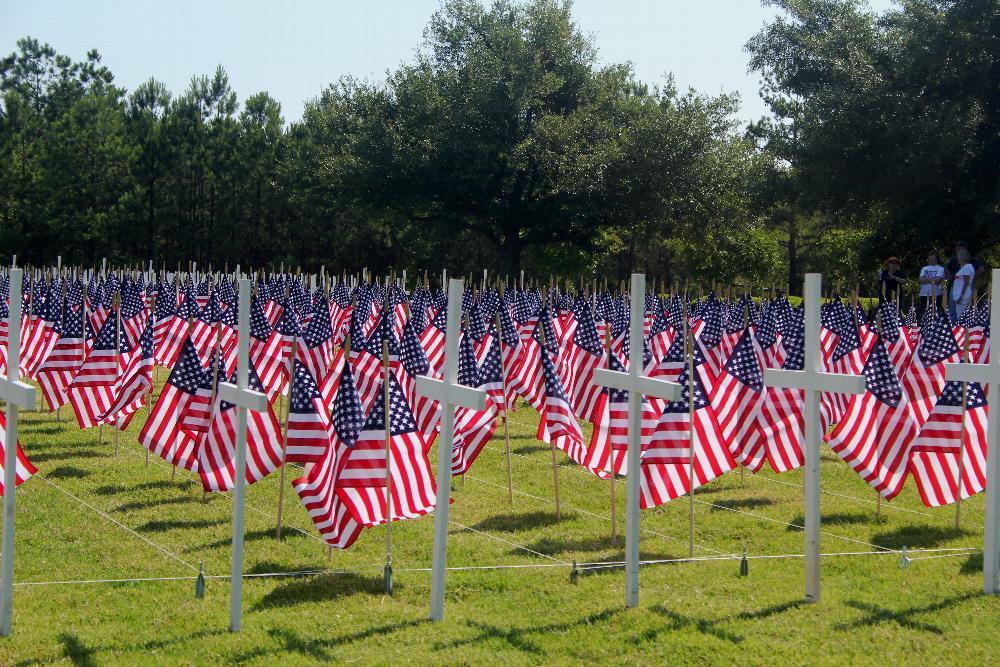 Memorial Day display by Augusta Elks Lodge