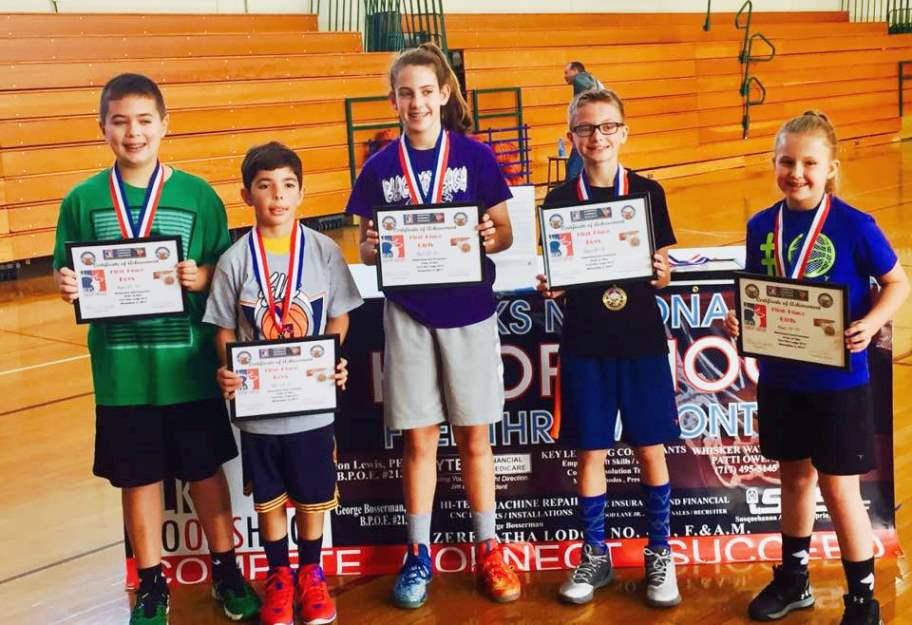 2017 Hoop Shoot First Place Winners