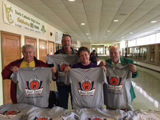 2017 Hoop Shoot - shirts were given to each participant