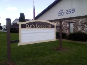 Lodge new sign