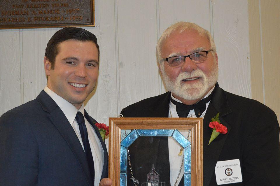William Barlow Jr., City of Oswego Mayor & John Jacques', NYSEA President at 2016 Washington's Birthday Celebration