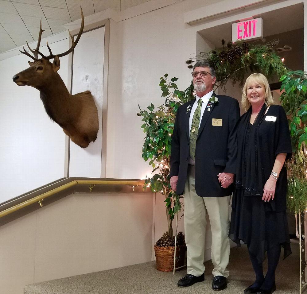 Lodge Secretary Joel Buoy and wife Judy