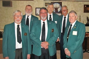 Installing PERs at 2014 - 2015 installation<br>  Front row: Roy Riggs, Joel Buoy, Lanty Jarvis<br>  Back row:  Steve Malone, Gil Smith, Art Winward<br>  Not shown:  Dick Stark & Gerald Eifert<br>