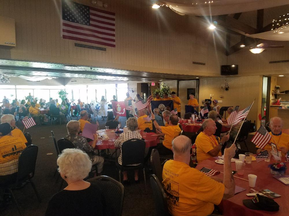 One of our Honor Flight Luncheons, that we host to Honor our War Heroes. Phoenix #335 host 4 of these every year.