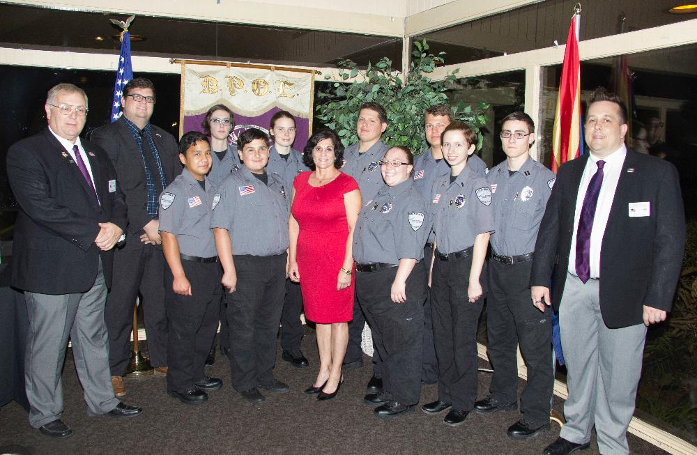 North Phoenix Police Cadets at Law & Order Night November 9th 2017
