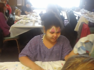 Face Painting -- One of our Bunny Helpers!