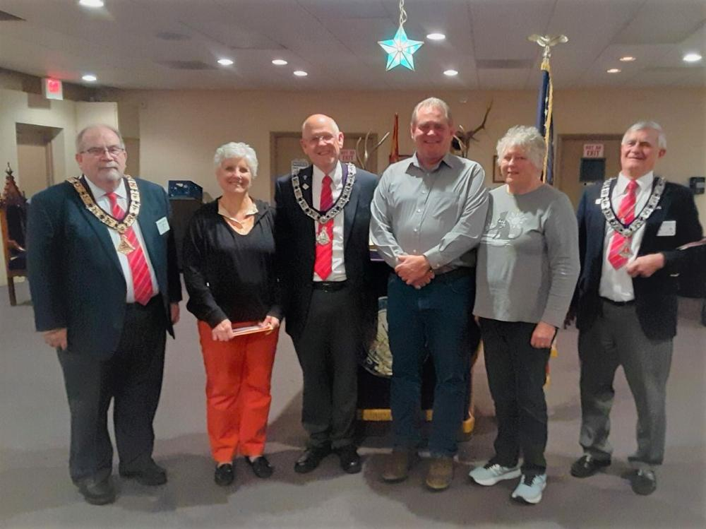 New Members Initiated February 25, 2020-From left to right: ER J. Riley, New Member M. Knight, Proposer T. Madden, D. Cantrell, Proposer T. Morgan, Esquire J. Jablonski