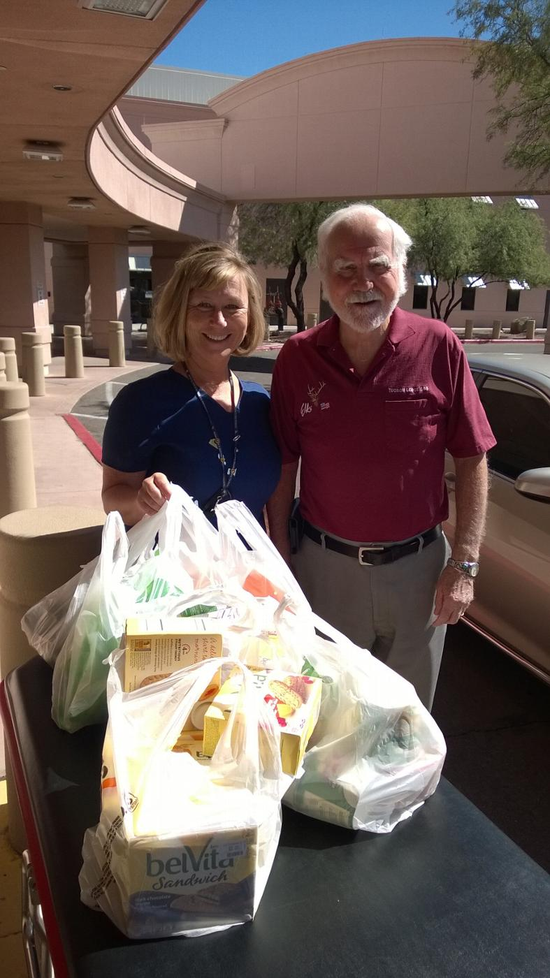 VA Emergency Waiting Room:  Thanks to T. Morgan our Lodge 385 Veterans Chairperson l was able to deliver snacks to the VA Emergency waiting room. Head nurse Becky Morrison (with PER F. Hydock) was very grateful.