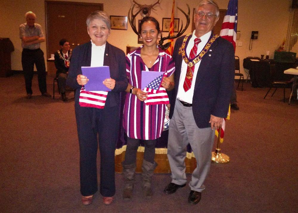 New members, from left to right, Betty Craven and Norma Lopez with ER Joe Jablonski
