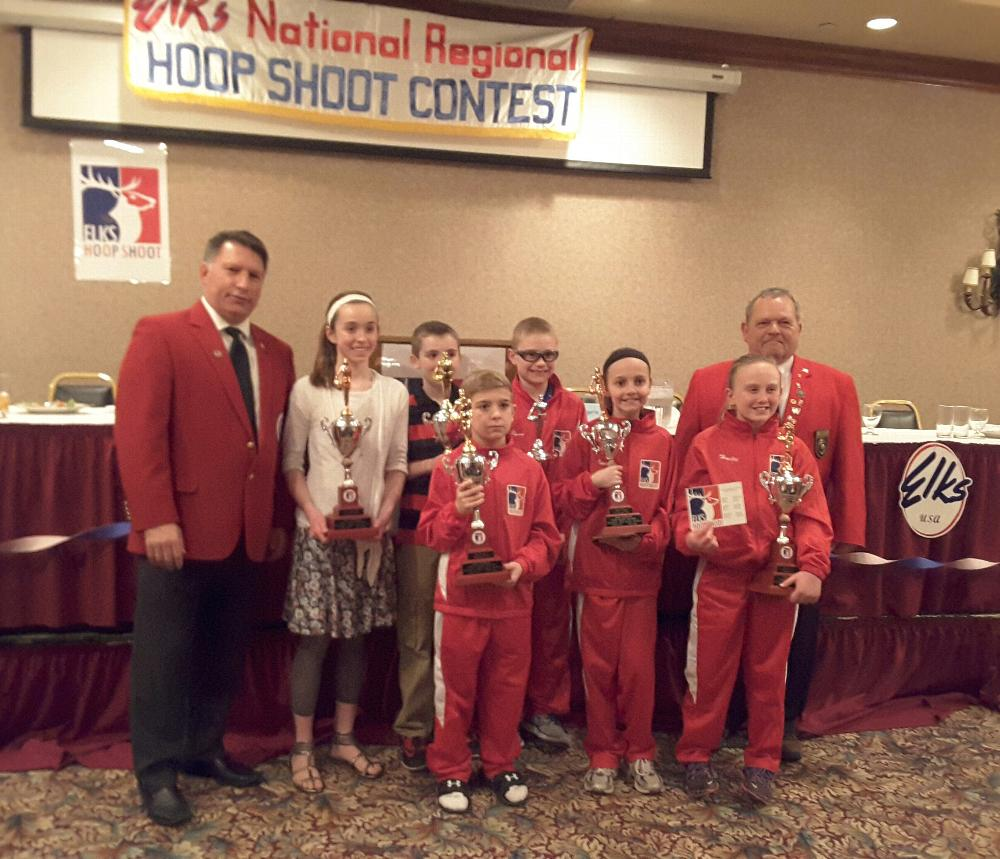 Regional winners at Iowa City, with past state president Tony Volgaris and George Meyers.