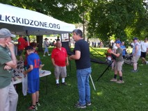 Memorial Day Drug awareness tent in Owen Park was a busy place.