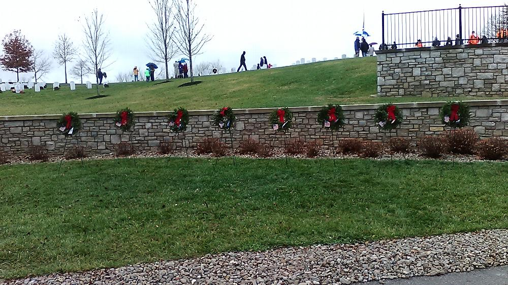 CAMP NELSON DURING THE WREATH ACROSS AMERICA CEREMONY WHICH THE LODGE DONATED WREATHS TO PUT ON THE GRAVES FOR REMEMBRANCE 2018