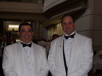 Past District Deputy Grand Exalted Ruler North Randall Cory and Past District Deputy Grand Exalted Ruler South David Fenster, at Grand Lodge after being sworn in as District Deputies in 2006.