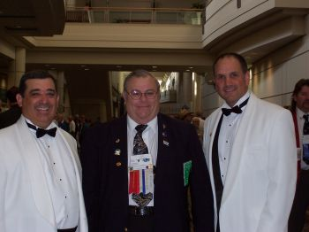 Past District Deputy Grand Exalted Ruler North Randall Cory, Past State President Ray Buisson, and Past District Deputy Grand Exalted Ruler South David Fenster at Grand Lodge in 2006.