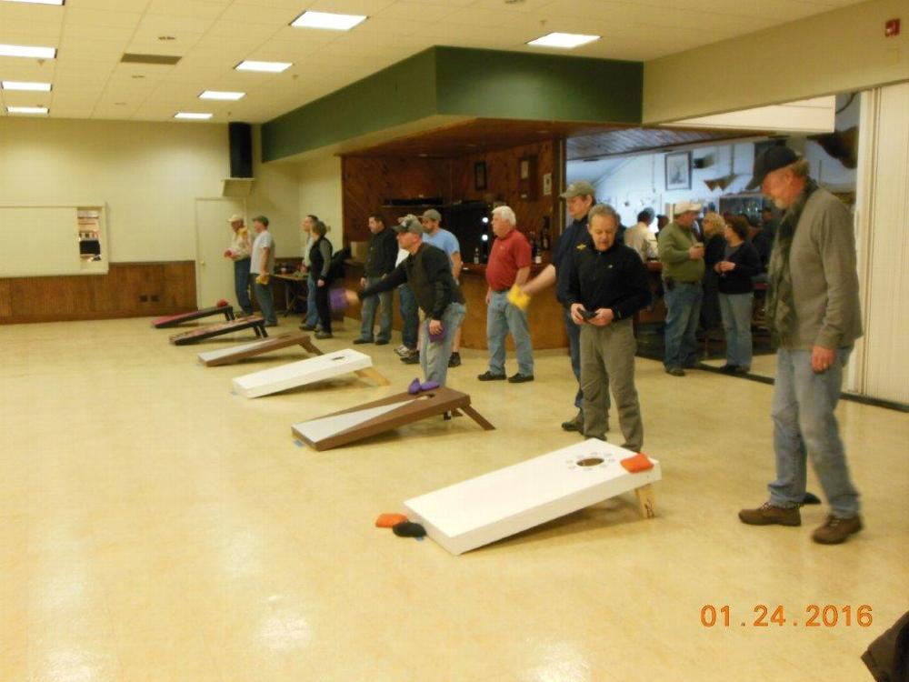Teams playing in the 2016 Corn Hole Tournament.