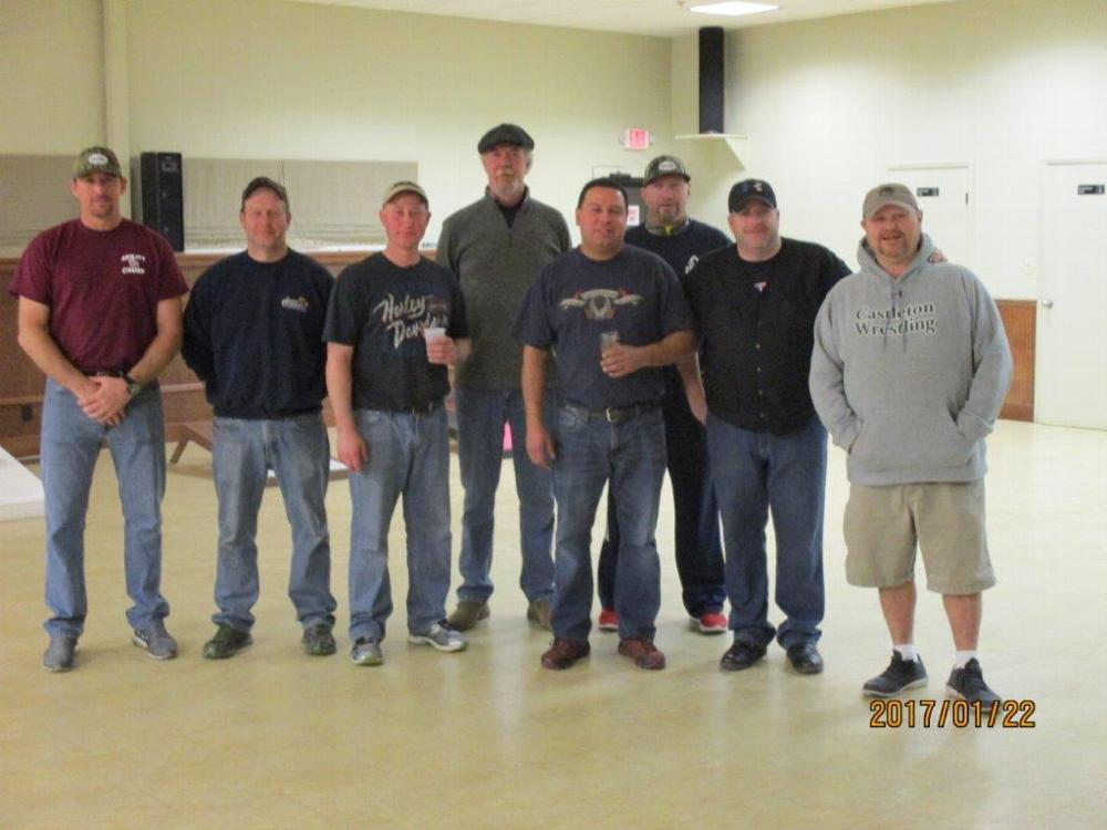 The final four teams are pictured from Left to right : Chad Skinner, Tim Mattison, Gene Guertin, Mike Brush, Mike Barbeau, Mike Greene, Ryan Nolan, and Jesse King.