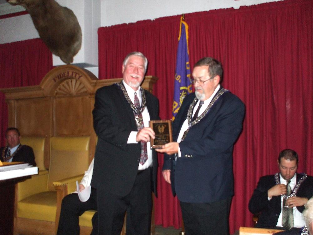 ER Don Mear  and Ed Crilly, Officer of the Year