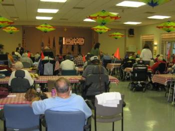 Veterans enjoying #580 Night at bingo