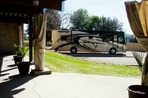 Back Yard RV sites with water, 50/30/20 amp hook-ups, WIFI and dump station on property