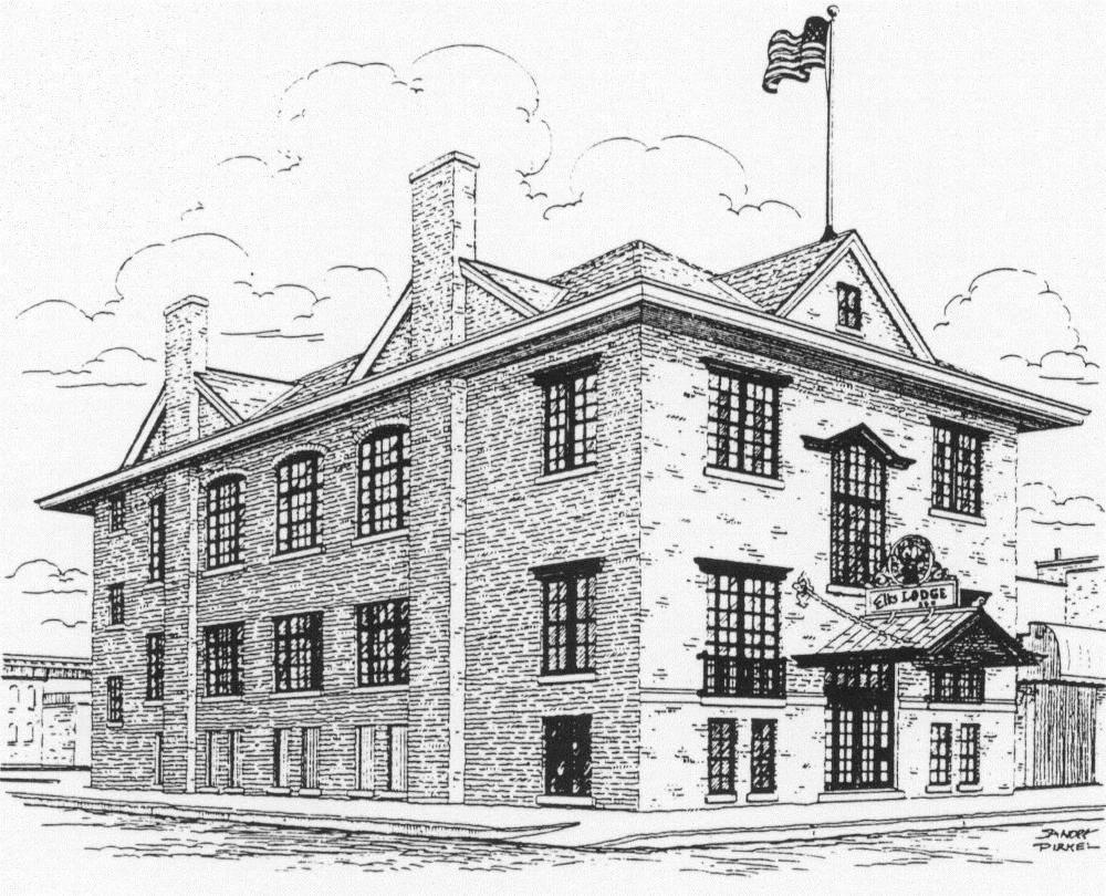 Pencil drawing of our beautiful lodge.