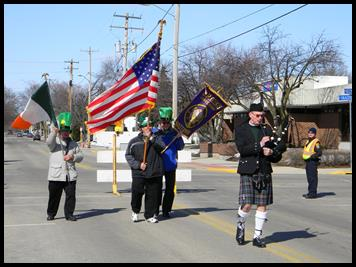 St. Patrick's Day - Start of the Elks Parade