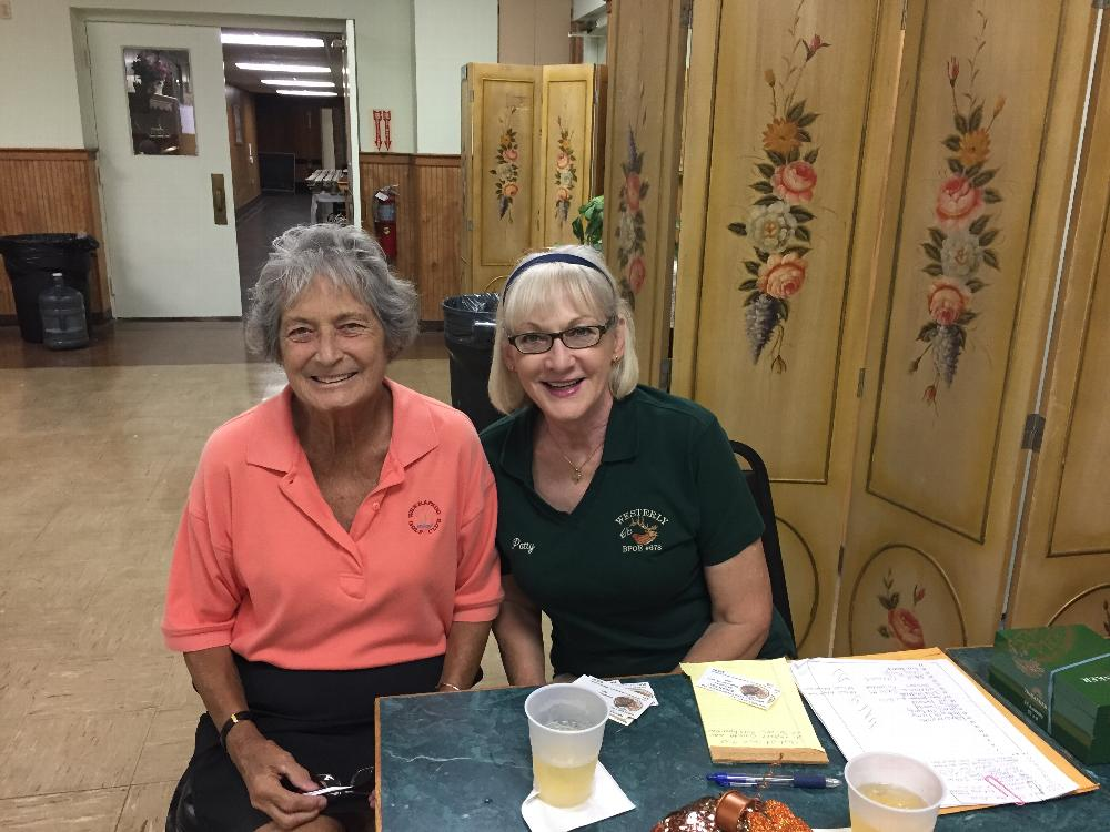 Golf Tournament Steak Fry Check in with Patty and Ellen