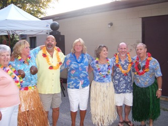 Activities Committe at the Luau  see more photos in the News section