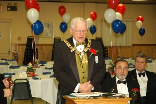 Barry Cole, DDGER presiding over the Installation of Officers.  Photo by Stephen Cersosimo