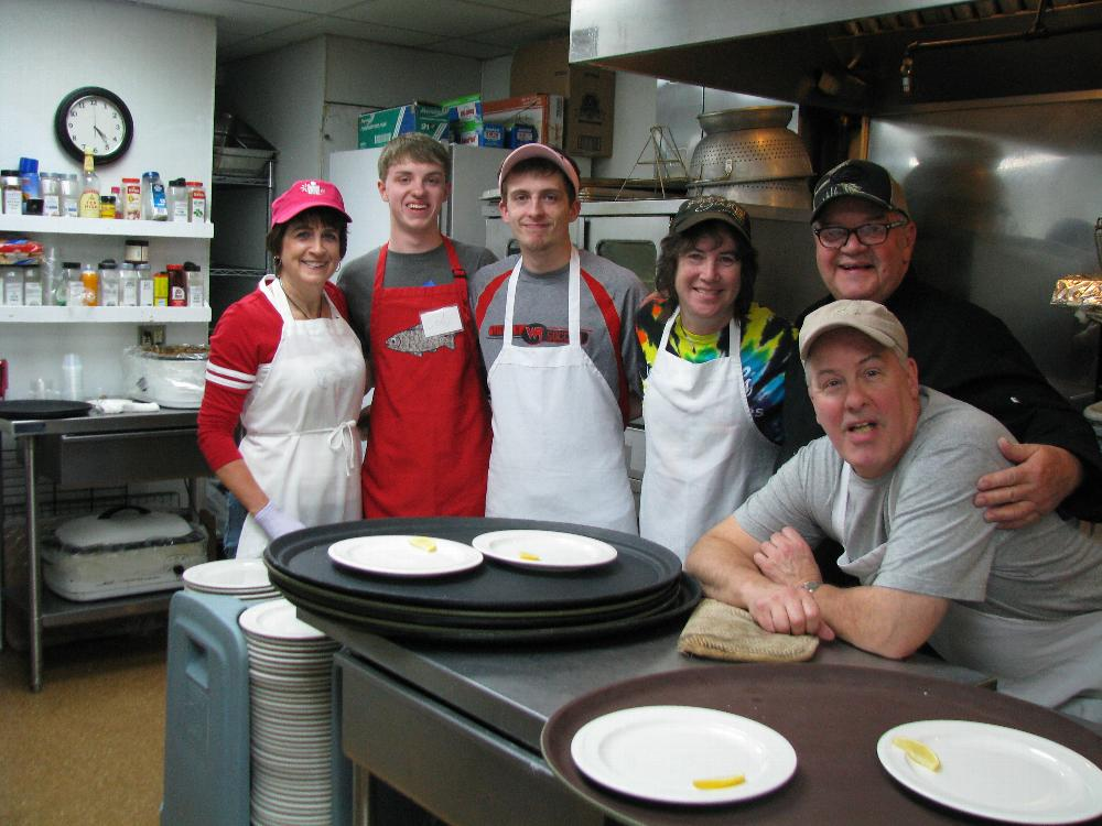 The Lenten Fish Fry Kitchen Crew.