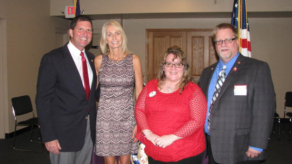 ER Mike & Dawn Spranger with State President Rob Radig Sr. and First Lady Michelle